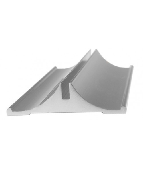 "JRS Polished Silver 8"" #35 Desk Base with 1/16"" Slot"