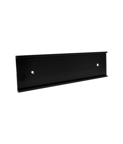 """JRS Matte Black 2"""" x 10"""" #36 Wall Holder for 1/16"""" Thick Material"""