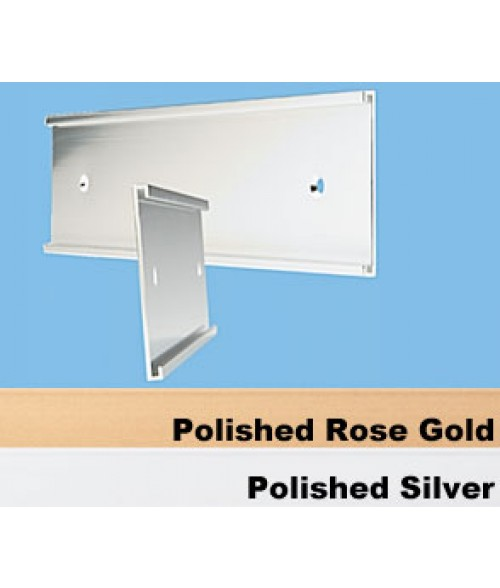 "JRS Polished Rose Gold 2"" x 10"" #36 Wall Holder for 1/16"" Thick Material"