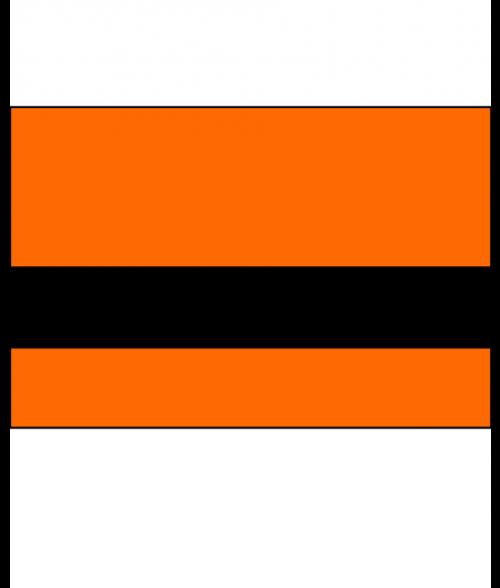 """IPI Electrics Awesome Orange/Black 1/16"""" Engraving Plastic"""