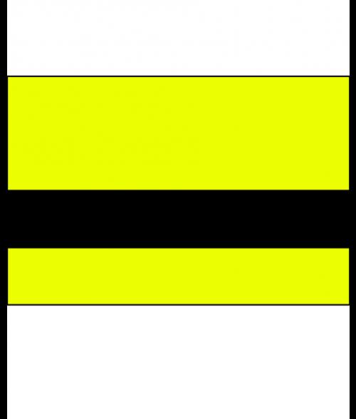 "IPI Electrics Terminal Yellow/Black 1/16"" Engraving Plastic"