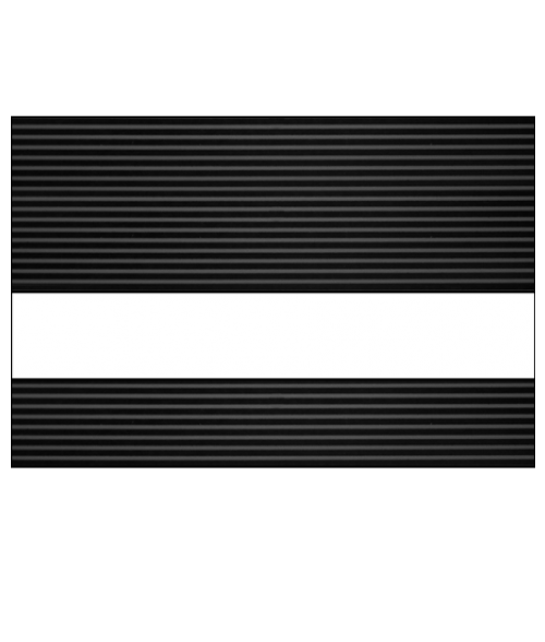 "IPI Graphixs Black Stripe/White 1/16"" Engraving Plastic"