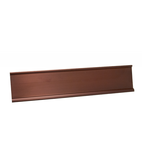 """JRS Polished Bronze 2"""" x 10"""" #48 Desk Holder for 1/16"""" Thick Material"""