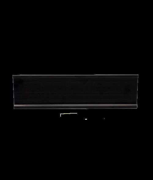 "JRS Matte Black 2"" x 12"" #48 Desk Holder for 1/16"" Thick Material"
