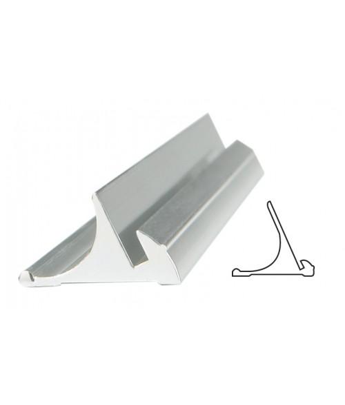 "JRS Polished Silver 6"" #50 Desk Base with 1/16"" Slot"