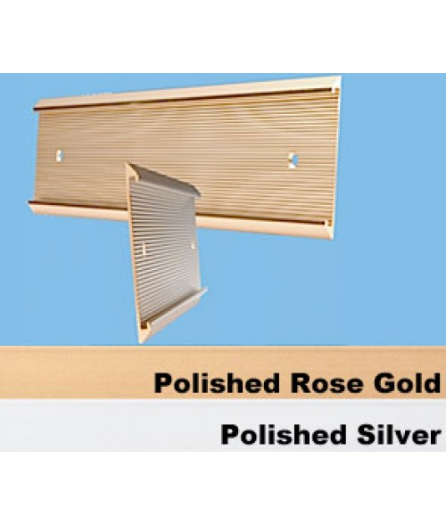 "JRS Polished Rose Gold 1-1/2"" x 10"" #57 Wall Holder for 1/16"" Thick Material"