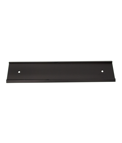 """JRS Matte Black 2"""" x 8"""" #58 Wall Holder for 1/16"""" Thick Material"""