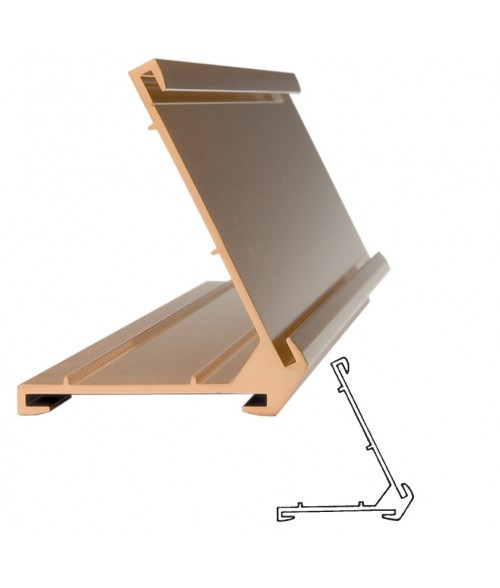 "JRS Polished Rose Gold #60 Multiple Sign Holder (One 1-1/2"" x 10"" x 1/16"" Slot and One 2"" x 10"" Slot)"