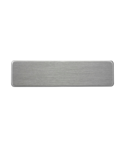 "Satin Silver 5/8"" x 2-1/2"" Premium Metal Name Tag with Clutch Back"