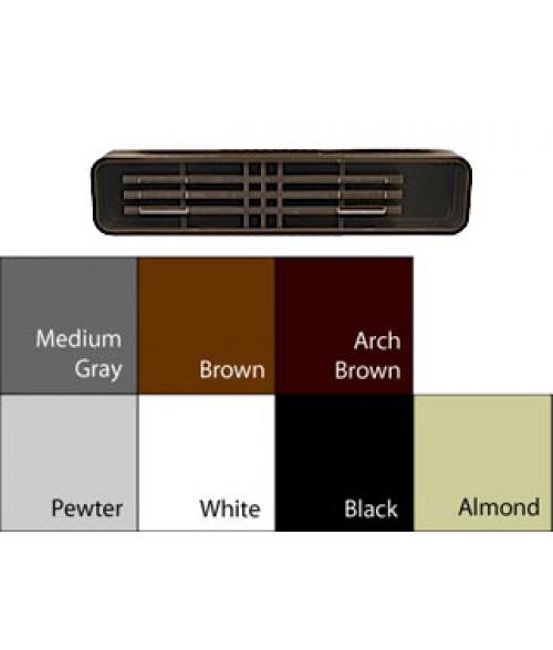 "JRS Architectural Frame Pewter Grey 1-3/4"" x 9-1/8"" Round Plastic Desk Bar"