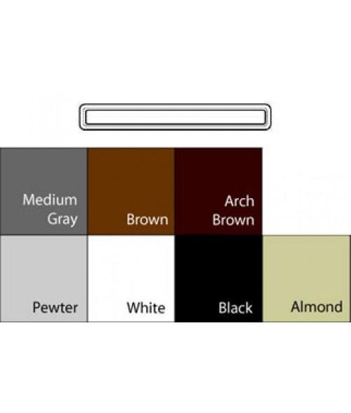 "JRS Architectural Frames White 1-3/4"" x 13-1/8"" Round Plastic Frame"