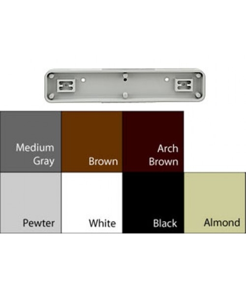 "JRS Architectural Frames Brown 1-3/4"" x 9-1/8"" Round Plastic Frame"
