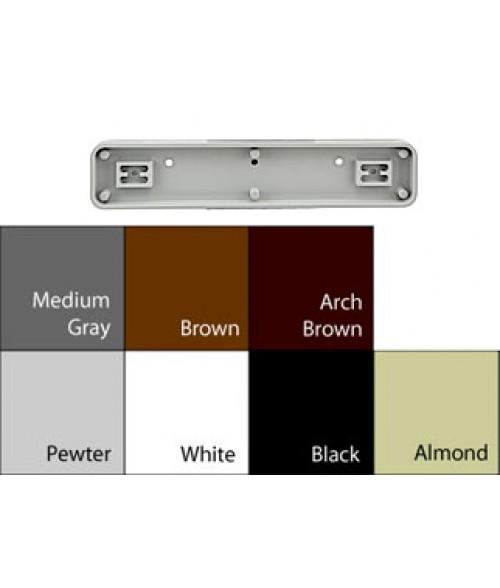 "JRS Architectural Frames White 1-3/4"" x 9-1/8"" Round Plastic Frame"