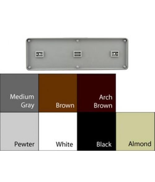"JRS Architectural Frames White 4-1/8"" x 13-1/8"" Round Plastic Frame"