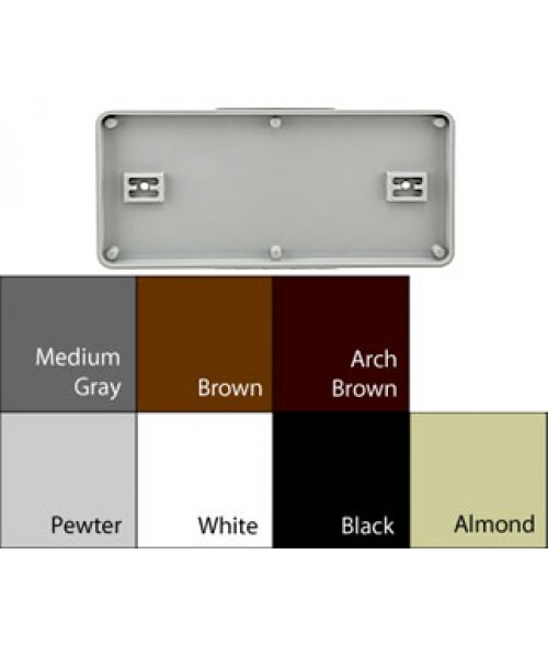 "JRS Architectural Frames White 4-1/8"" x 9-1/8"" Round Plastic Frame"