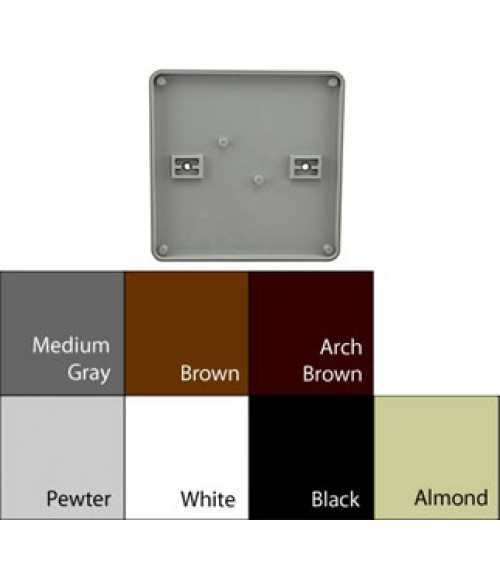 "JRS Architectural Frames White 6-1/8"" x 6-1/8"" Round Plastic Frame"