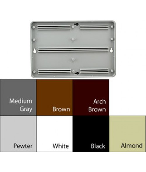 """JRS Architectural Frames Pewter Grey 6-1/8"""" x 9-1/8"""" Round Plastic Frame"""