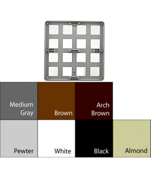 "JRS Architectural Frames Pewter Grey 9-1/8"" x 9-1/8"" Round Plastic Frame"