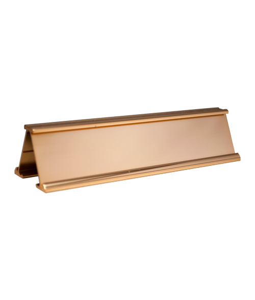 "JRS Polished Gold #71 Multiple Sign Holder (Two 1-1/4"" x 8"" x 1/16"" Slots)"