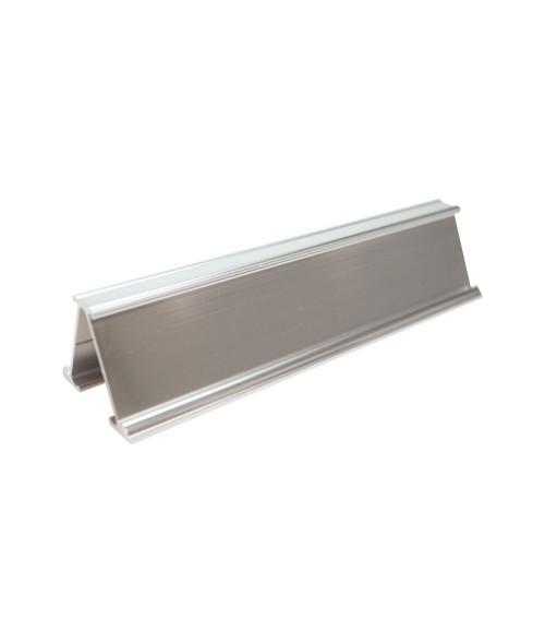"""JRS Polished Silver #71 Multiple Sign Holder (Two 1-1/4"""" x 6"""" x 1/16"""" Slots)"""