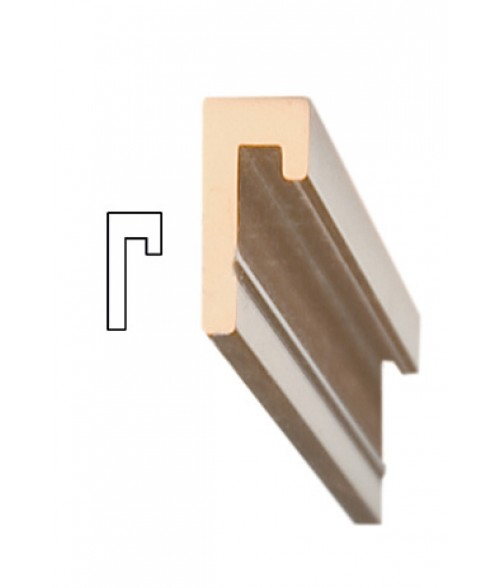 """JRS Polished Rose Gold 36"""" #75 Extrusion with 1/16"""" Slot"""