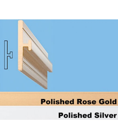 "JRS Polished Rose Gold 36"" #76 Extrusion with 1/16"" Slot"