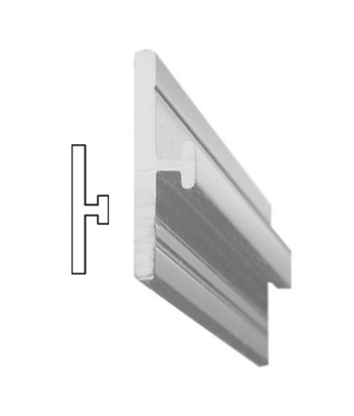 """JRS Polished Silver 36"""" #76 Extrusion with 1/16"""" Slot"""