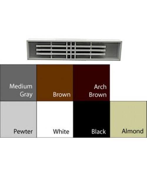 "JRS Architectural Frame Pewter Grey 1-3/4"" x 9-1/8"" Square Plastic Desk Bar"