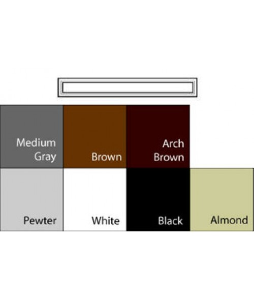 "JRS Architectural Frames Arch Brown 1-3/4"" x 13-1/8"" Square Plastic Frame"