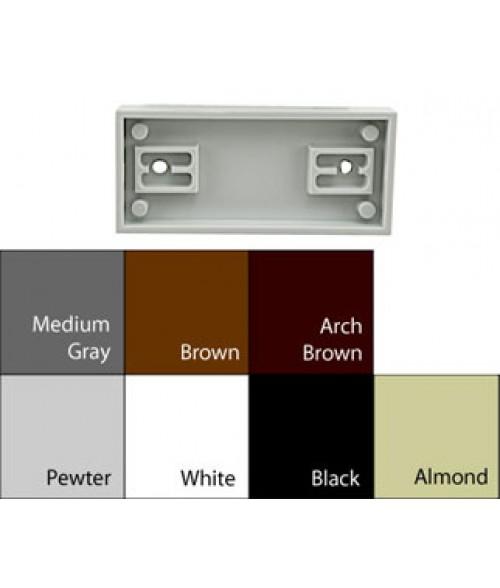 "JRS Architectural Frames Black 1-3/4"" x 4-1/8"" Square Plastic Frame"