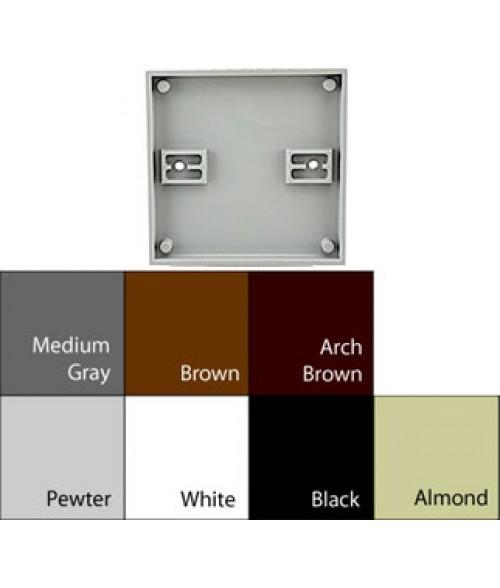 "JRS Architectural Frames Black 4-1/8"" x 4-1/8"" Square Plastic Frame"