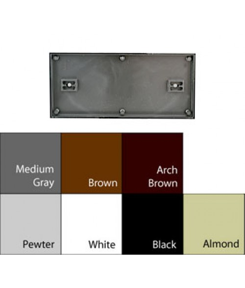 "JRS Architectural Frames Black 4-1/8"" x 9-1/8"" Square Plastic Frame"