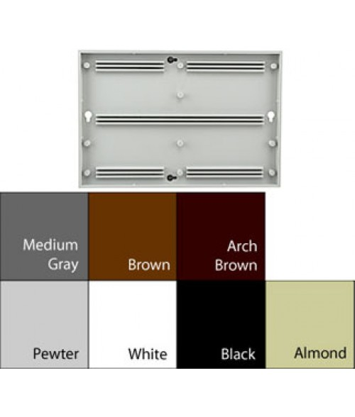 "JRS Architectural Frames Black 6-1/8"" x 9-1/8"" Square Plastic Frame"