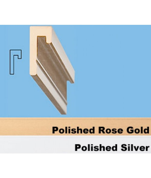 """JRS Polished Silver 36"""" #83 Extrusion with 1/8"""" Slot"""