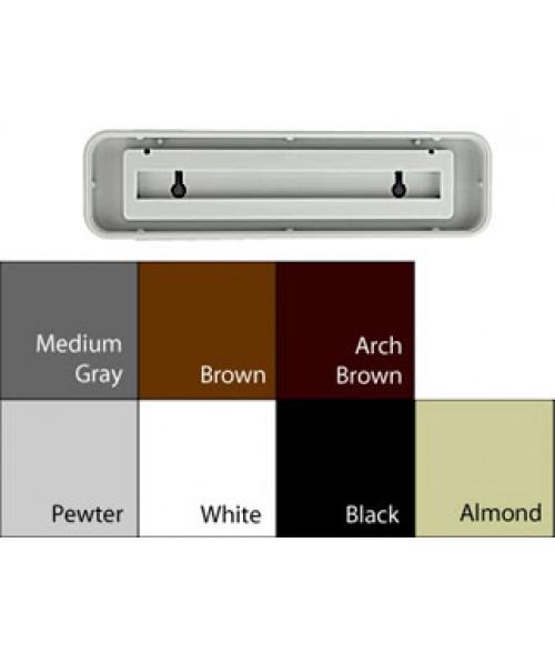 """JRS Designer Frames White 2"""" x 8"""" Round Plastic Frame"""