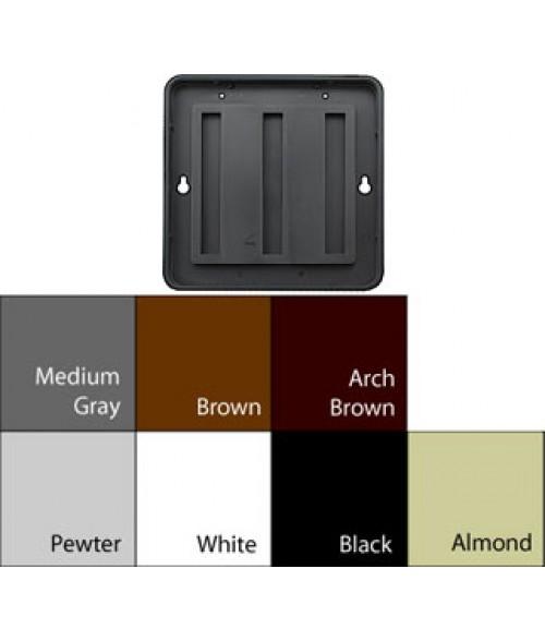 "JRS Designer Frames Medium Grey 4"" x 4"" Round Plastic Frame"