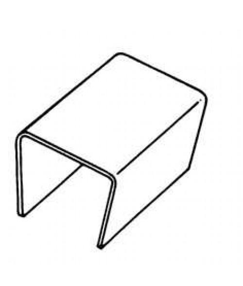 """JRS 3-1/2"""" Clear Plastic Cubicle Hanger"""