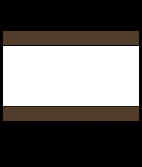 "Rowmark Heavy Weights Brown/White/Brown 1/2"" Engraving Plastic"