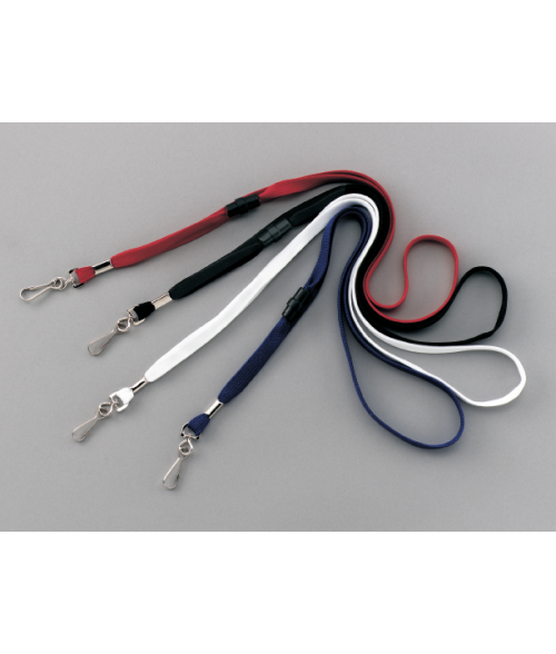 "White 1/2"" x 35"" Swivel Hook Breakaway Lanyard"