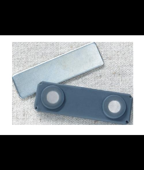 "J59DLX 1/2"" x 1-3/4"" Grey Plastic Encased Magnetic Badge Finding"