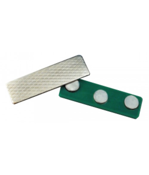 "J81 1/2"" x 1-3/4"" Green Triple Magnetic Badge Finding"