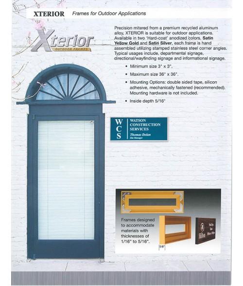 JRS Xterior Sign Frame Sales Brochure