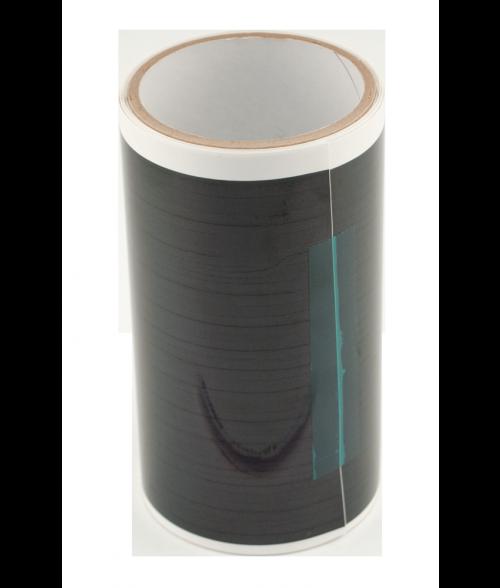 """Black 6"""" x 25' Engravable Laser Foil"""