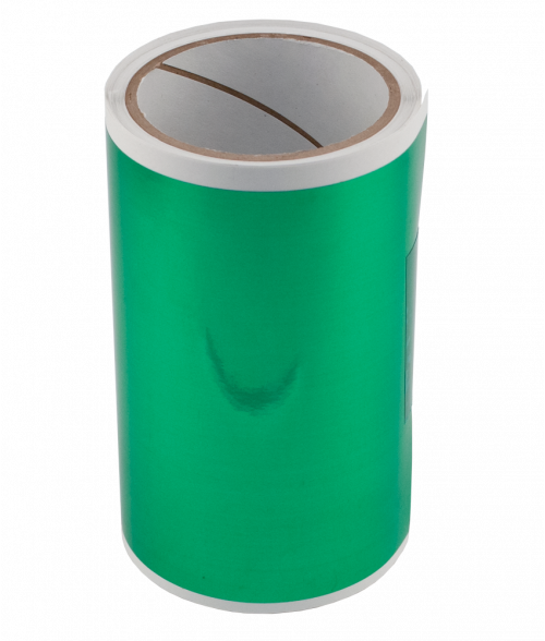 """Green 6"""" x 25' Engravable Laser Foil"""