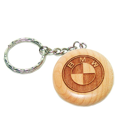 Maple Round Keychain
