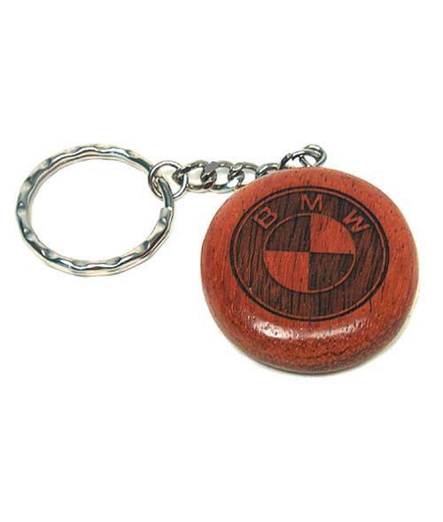 Rosewood Round Keychain