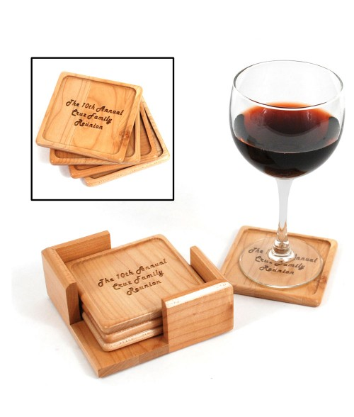 LaserBits Maple Coaster Set (4 Coasters)