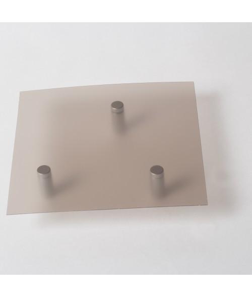 "Rowmark Lucent Translucent Smoke .025"" Engraving Plastic"