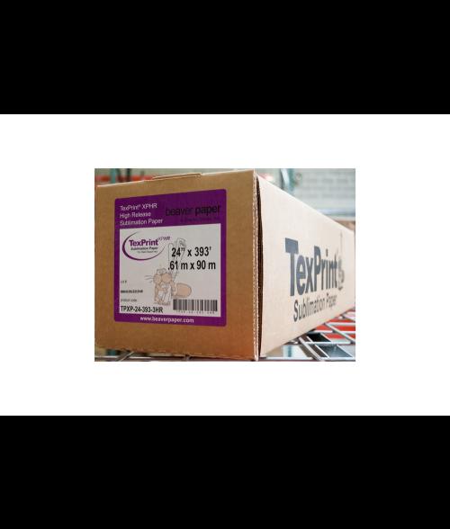 "TexPrint XP 24"" x 393' Sublimation Paper Roll"