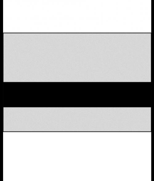 "Rowmark LaserMax Smooth Silver/Black 1/32"" Engraving Plastic"